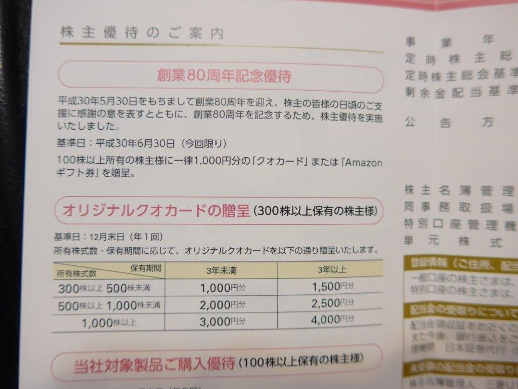 立川 ブラインド 株価